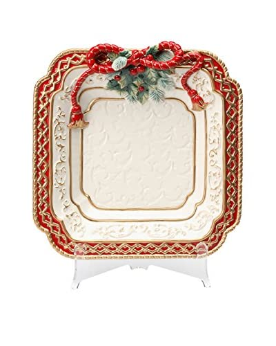 Cosmos Sensational Celebration Poinsettia Dinner Plate