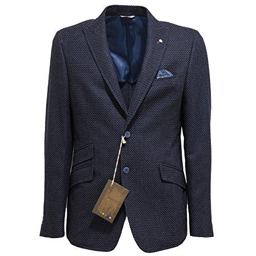 8984L giacca uomo MANUEL RITZ formal casual cotone lana giacche jackets men [50]