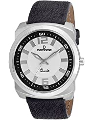 Decode Executive 111 White Black Analog Wrist Watch For Men/Boys