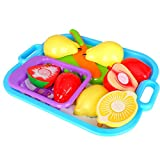 Juguetes Educativos Alimentos de Cocina Reutilizables Cortar Frutas Niños Plástico