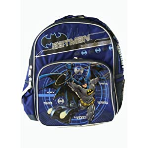 Dc Comics Batman Backpack - Kid Size Batman School Backpack