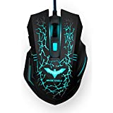 HAVIT® HV-MS672 Ergonomic LED Stress-ease Wired Mouse With 7 Soothing LED Colors, 6 Buttons(Easter Day Special)