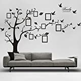 Picture Removable Wall Decor Decal Sticker (BLACK, 1)