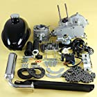 2-stroke Cycle 80cc Bicycle Engine Motor Kit for Motorized Bicycle Silver Engine Muffler