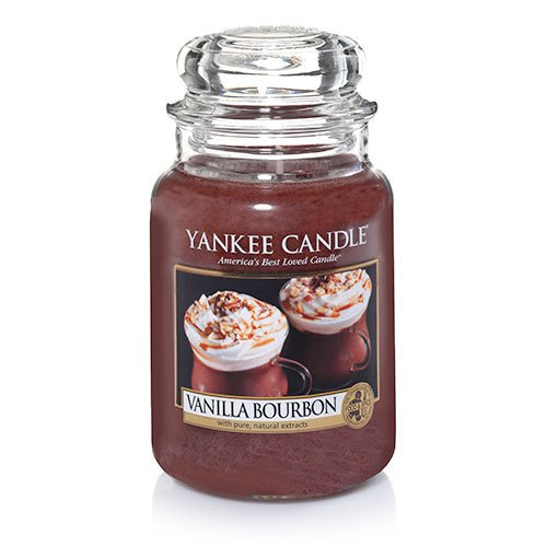 Yankee Candle Vanilla Bourbon Large Jar Candle, Food & Spice Scent