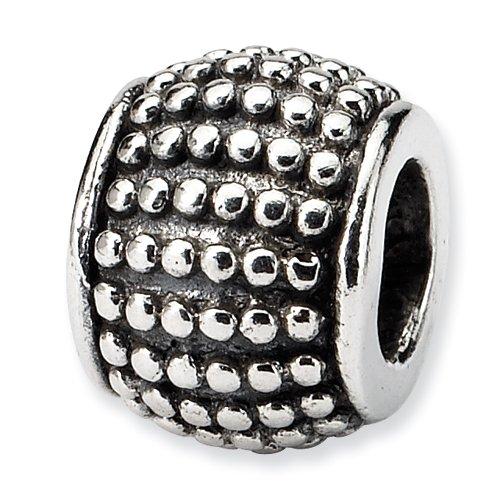 .925 Sterling Silver Bali Bead