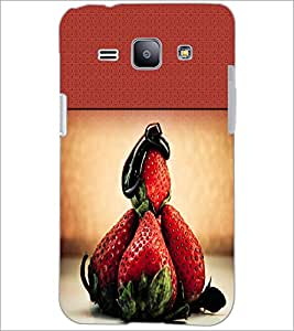 PrintDhaba Strawberries D-2827 Back Case Cover for SAMSUNG GALAXY J1 (Multi-Coloured)