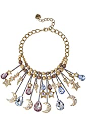 Betsey Johnson Stargazer Moon and Star Necklace