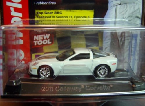 AUTO WORLD LICENSED PREMIUM BBC TOP GEAR White 1:64 SCALE 2011 CALLAWAY CORVETTE DIE-CAST