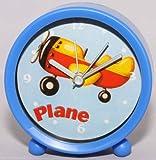 Blue Plane Battery Powered Alarm Clock