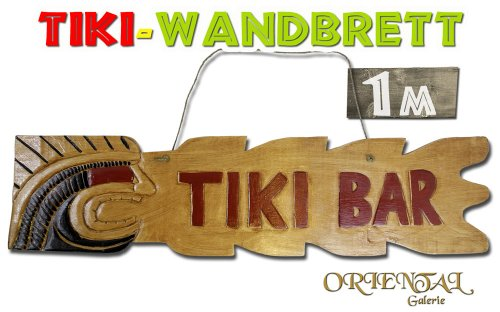 Wandbrett &quot;Tiki Bar&quot; mit Figur 100cm Nr.49
