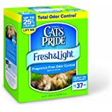Cat's Pride Fresh and Light Premium Fragrance Free Scoopable Cat Litter box, 28-Pound