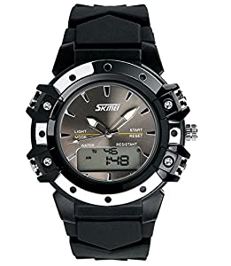 Watch Dada Multi Function Military S-shock Sports Watch LED Analog Digital Waterproof Alarm Black