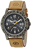 Timex Expedition Men's Quartz Watch with Black Dial Analogue Display and Brown Leather Strap T49991