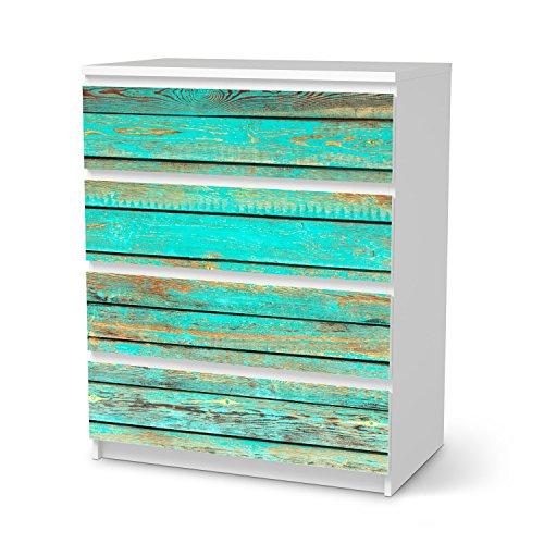 IKEA-Malm-4-Schubladen-Mbel-Folie-Design-Wooden-Aqua-Schutz-Dekorations-Element
