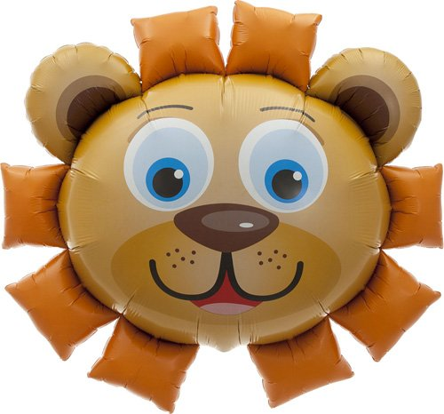 Lion Head Helium Foil Balloon - 35 inch