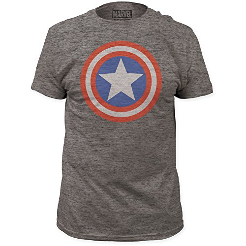 Captain America Vintage Heather Marvel Adult T-Shirt