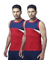 Ranjit Rocky Sports Vest (Pack of 2) (RS04XXL_Multicolor_100)