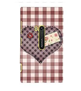 Decorative Heart Design 3D Hard Polycarbonate Designer Back Case Cover for Nokia Lumia 920 :: Microsoft Lumia 920