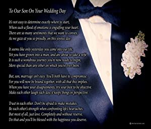 Wedding Gift For My Son : Son On Your Wedding DayPoem Print (8x10)Beautiful Groom Wedding ...