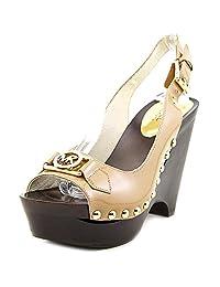 Michael Michael Kors Women's Charm Sling Sandal Dark Khaki Patent