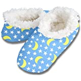 Snoozies Stars and Moon Fleece Lined Footies, Medium