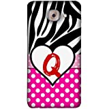 FUSON Designer Back Case Cover For Samsung J7 Max G615F/DS, Samsung Galaxy On Max, Samsung Galaxy J7 Max (Alphabet Q Letter Paw Seamless Bow Beautiful Heart)