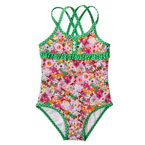 Infant Toddler Girls' Swimwear Circo® Angora Pink 1 pc Floral Swim Suit