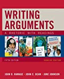 Writing Arguments, Concise Edition: A Rhetoric with Readings (5th Edition) (0205665772) by Ramage, John D.