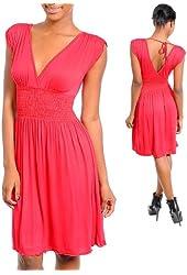 G2 Fashion Square Women's Casual Wrap Knit Dress
