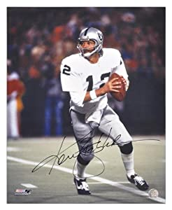 Ken Stabler Signed Photo - 16x20 Memories - Mounted Memories Certified - Autographed NFL Photos