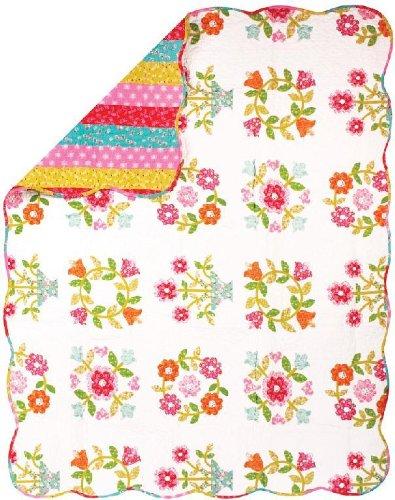 Manual costuras y Weavers de funda de edredón Reversible, diseño de flores de copos de nieve de onneke, 50 de 152,4 cm