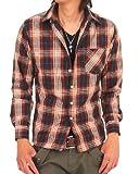 TOPISM メンズファッション シャツ ワイシャツ メンズ アメカジ マドラスチェック 長袖 カジュアルシャツ n-shirt-16