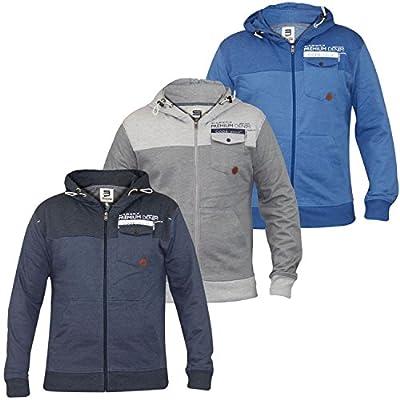 Smith & Jones Herren Sweatshirt Pullover Hoodie Zipper casual Hooded Top BNWT