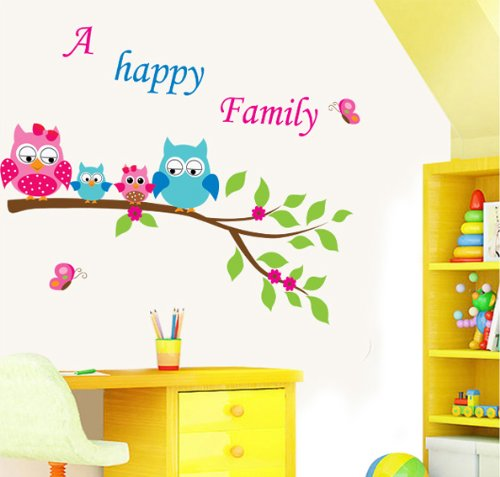 Happy Family Peel And Stick Wall Decals Reusable Decoration Wall Sticker Medium front-246427