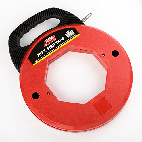 2 75 Ft Fish Tape Steel Cable Electrician Reel Pull Wires Hand Puller Ate Tools