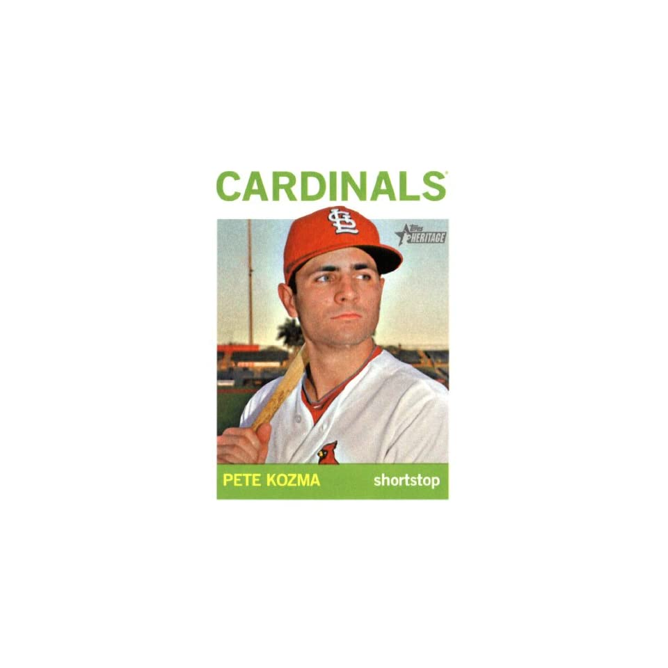 2013 Topps Heritage Baseball Card IN SCREWDOWN CASE #409 Pete Kozma ENCASED
