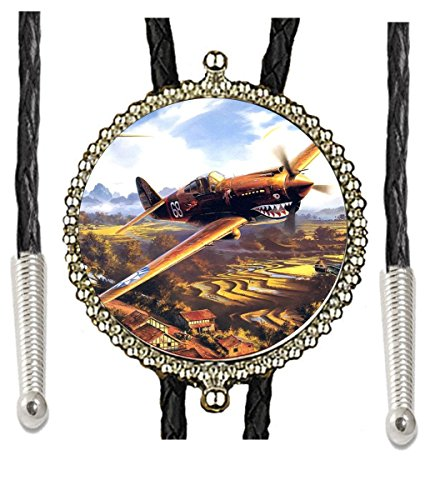 The P-40 WWII Fighter Plane Greatest Generation Hand Made Bolo Tie World World Heros