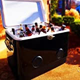 BREKX 54QT Black Party Cooler with Crisp Bluetooth Speakers