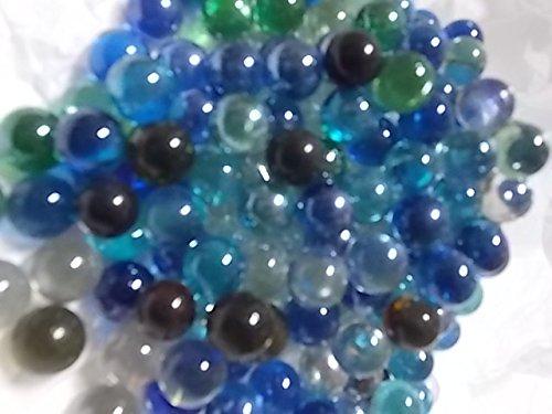 Colored Marbles For Probability Lesson : Mixed color glass marbles oz vase filler aquarium