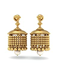 BlueStone 14K Yellow Gold And Pearl Drop Earrings - B00OENCMA0