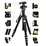 TNP Kamay K-888 Professional DSLR Camera Tripod Monopod with Ball Head Compact Portable Traveling Magnesium Aluminium Alloy Tripod for Canon Nikon Sony Pentax DSLR Digital Cameras