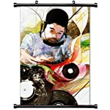 Home Decor Music (Hot singer) poster with Nujabes Graphics Plates Picture Headphones Wall Scroll Poster Fabric Painting 24 X 36 Inch (60cm X 90 cm) (Color: Hot Music poster 16, Tamaño: 24  x 36  Inch)
