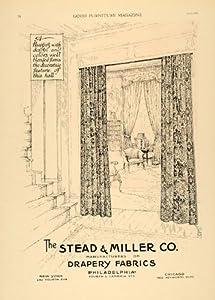 1920 Ad Stead Miller Drapes Fabrics Curtains Decor New York Window Treatment - Original Print Ad