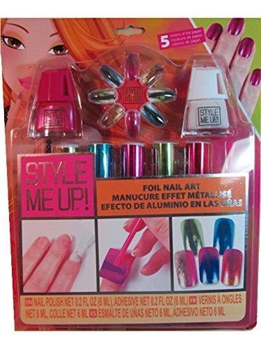Foil Nail Art Pink - 1