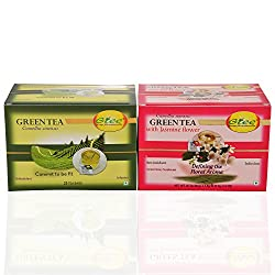 GTEE Green Tea Bags - Regular & Green Tea Bags-Jasmine (25 Tea bags X 2PACKS)