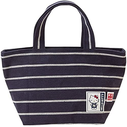 [Hello Kitty] Tote bag made in Japan Kurashiki canvas tote bag S Dark Navy [병행수입품]-