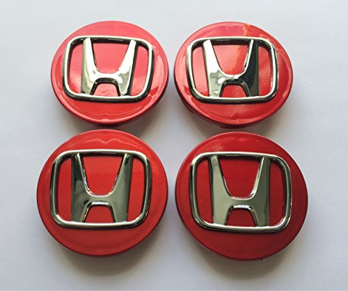 lot-de-4-capuchons-de-moyeu-chromes-honda-compatibles-accord-civic-cr-v-70-mm-rouge