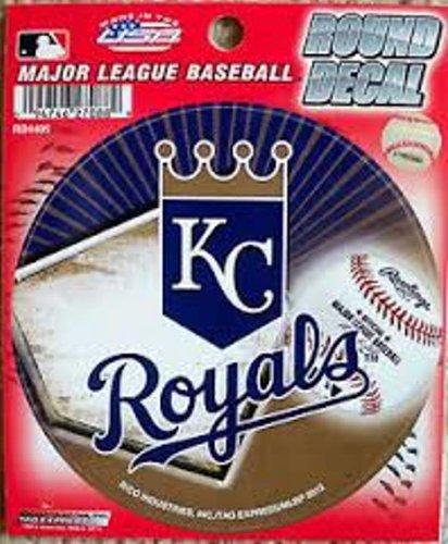 """Kansas City Royals Kc 4"""" Round Decal Bumper Sticker Emblem Baseball front-335941"""
