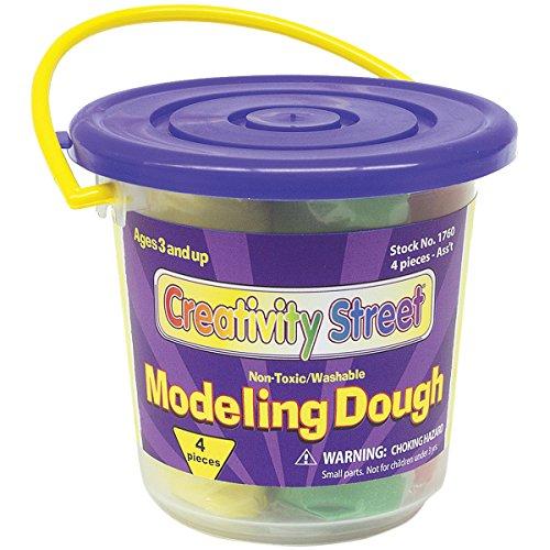 Creativity Street Modeling Dough Bucket Assortment, 3-Ounce, Assorted Colors, 4-Pack